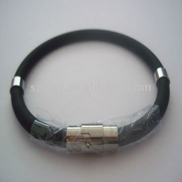 Silicon Bracelet with Metal Buckle magnetic bands
