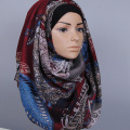 High quality viscose Women's printed floral shawls headband hijab long muslim scarves/scarf GBS370