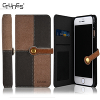 CTUNES New leather folding wallet case for iphone 7,leather portfolio case for iphone 7
