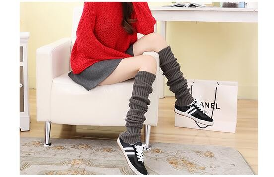 Soft Comfy women Leg Warmer thigh high boot socks knitted leg warmers