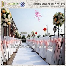 Wedding Party backdrop stage Decoration Tables and lace chairs covers