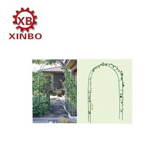 hebei xinbo hot selling simple flower arch gardening gourd vines frame for rattan vine iron decorative arch