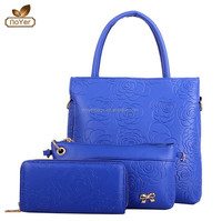 2015 facotry price Hot sale 3 pcs women bag set, fashion women handbag