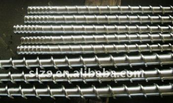 Screw barrel for pellet extruder machines