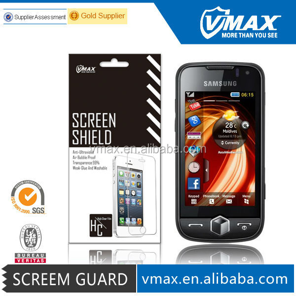 Free Sample Mobile screen protector for Samsung s8000 oem/odm (High Clear)