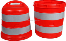 Portable Plastic Traffic Barrier Drum for Safety