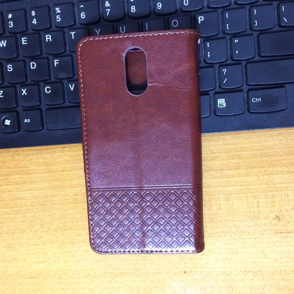 Custom made embossed lines Crazy Horse Wallet Flip Leather Case for xiaomi redmi note 4