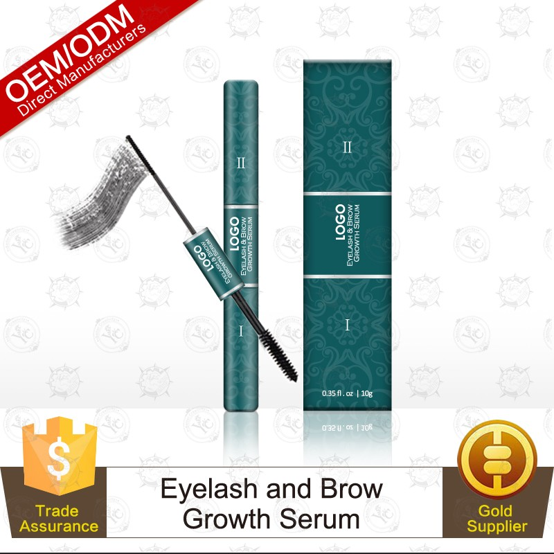 Private Label Double Headed Eyelash & Brow Growth Serum for Fuller, Thicker, Sexier Lashes