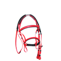 Fancy Red Pvc Bridle And Rein With Foam Padding For Sale