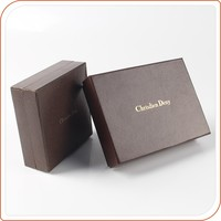 personalized brown embossing top and bottom gift box with lids