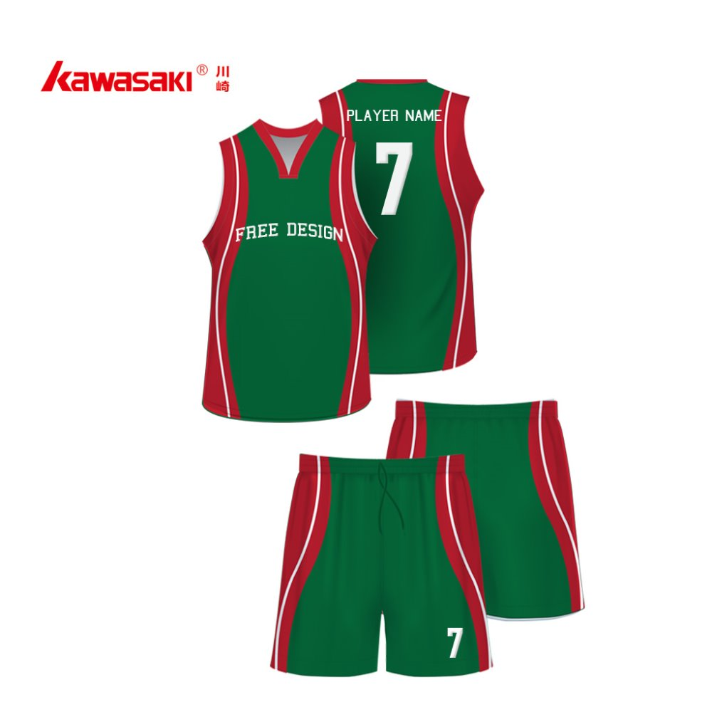 basketball uniform design 2016 mesh fabric basketball Green&Red uniforms for match