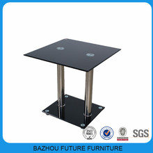 Canton Fair cheap price small glass stainless steel coffee table for supermarket