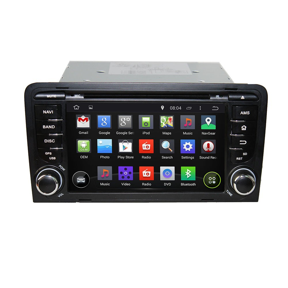 Touch screen car dvd player for AUDI Audi A3 2003-2011 car dvd gps navigation with bluetooth+built-in gps