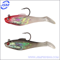 Lead head hook shad fishing lure, soft fishing bait