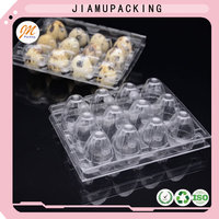 good quality disposable plastic quail egg tray for 12 cells