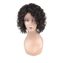 High quality short curly human hair full lace wigs, short curly wig for black women,best black women short full lace wigs curly