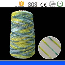Jiangsu 50% Acrylic 50% Polyester 1/3 NM Green Warp weft yarn/Fancy Ladder Yarn