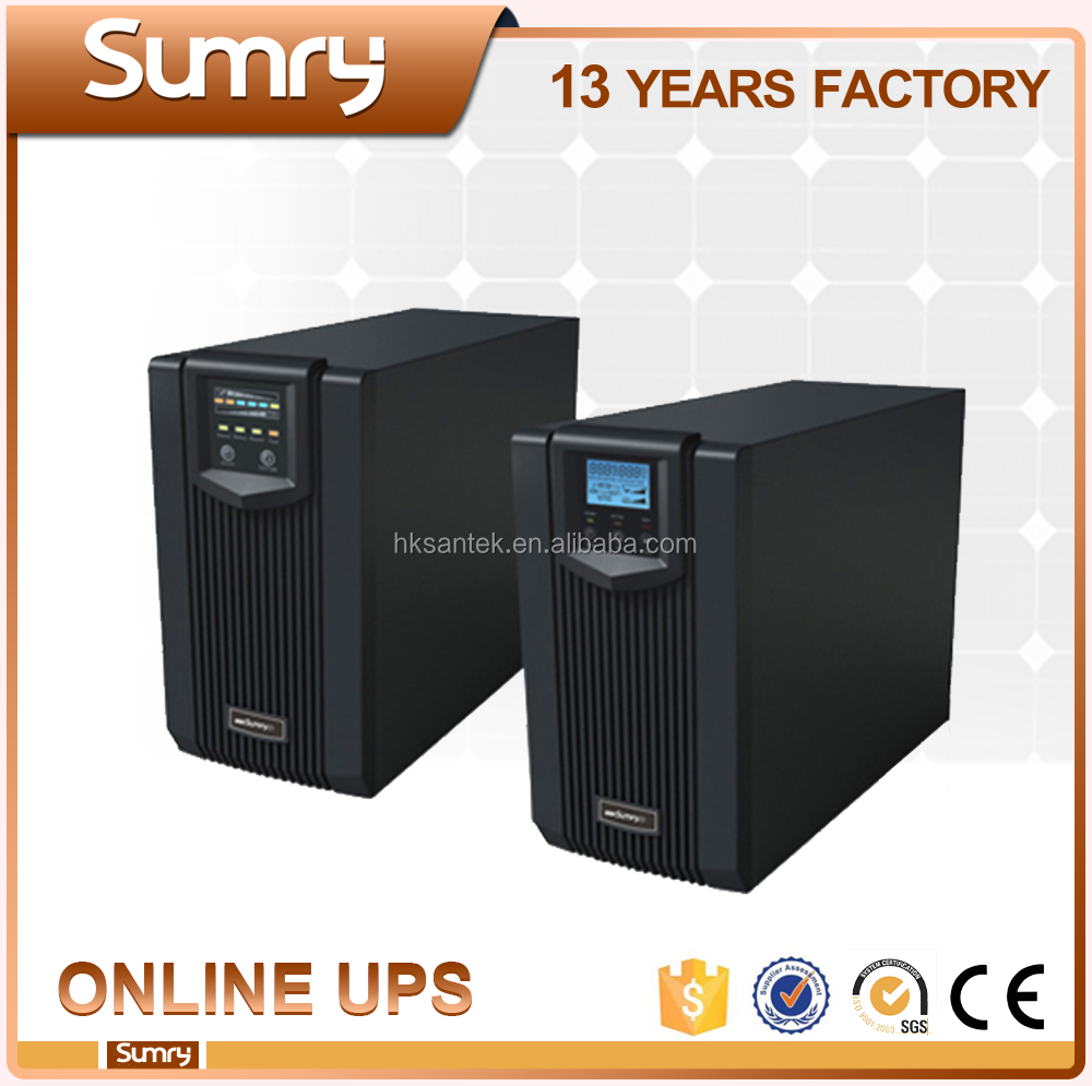 Zero Time Transfer 2kva 3kva 12V 220V Power Supply Pure Sine Wave Online UPS with LCD/LED Display