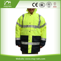 Waterpoof Orange High visibility Reflective Winter Safety Jacket