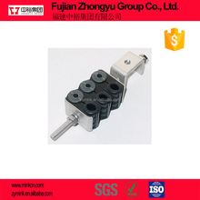 6 run SUS304 Stainless Steel fiber optic cable and power cable clamp