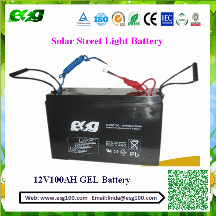Popular with cables 12v 100ah solar energy Deep cycle agm battery 100ah 12volt batteries