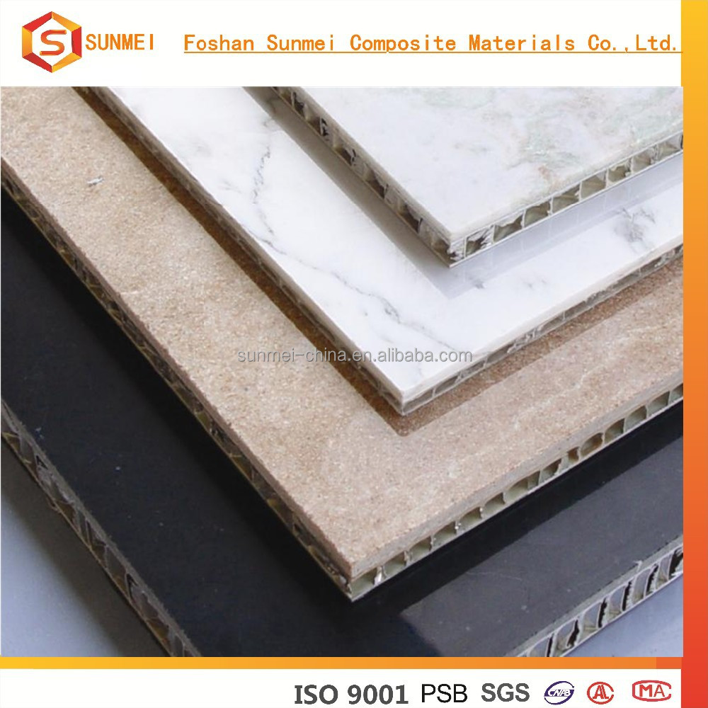 OEM Foshan Stone Laminated Aluminum Honeycomb Core Wall Panels