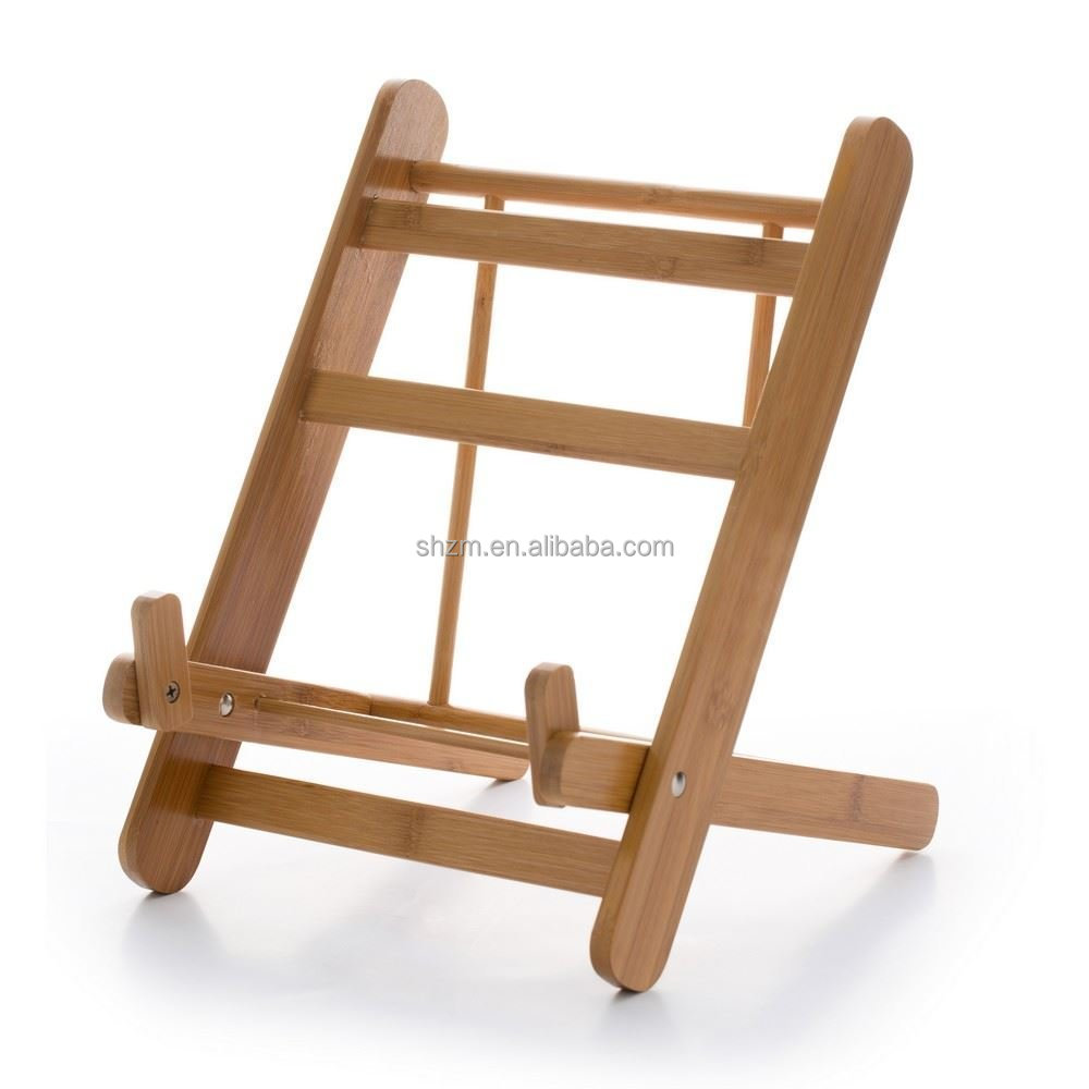 Folding Bamboo Cookbook / Tablet / Ipad Stand,Kitchen Ipad Rack / Holder  For All Ipads - Buy Folding Book Stand,Free Standing Kitchen Racks,Folding  ...