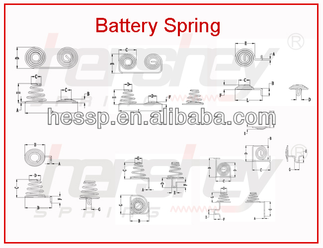 2017 new air conditioner battery spring supplier
