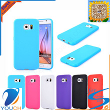 Colorful soft tpu smart phone case for SAMSUNG galaxy s6 edge plus
