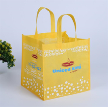 wholesale customized yellow green nonwoven bag