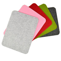 Custom Green Felt Mouse Pad Design