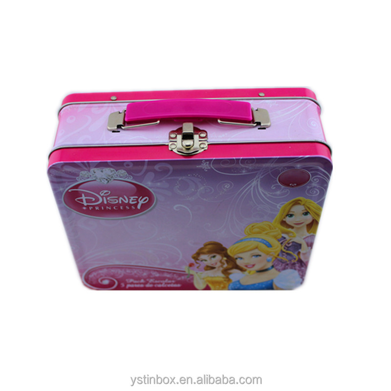 Custom Tin Metal Lunch Boxes For Kids With Handle, Lock and Key
