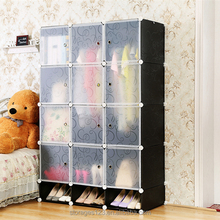 Easy Move 9 cubes Storage Cube,Assembled DIY Plastic Foldable Wardrobe