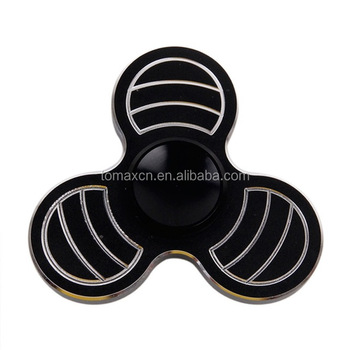 Fan wing shape stripe fidget spinner toys hand spinner release stree for adoults kids back to school gift