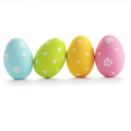 New Beautiful Colorful Plastic Easter Eggs