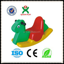 2015 Lovable colorful Little Pony baby plastic rocking horse/rocking horse rider QX-11129Q