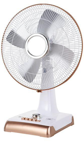 16 inch gold & white color table fan