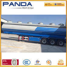 Euro style design Three/Four axles petrol tanker semi trailer with 6 compartments and strong trailer chassis