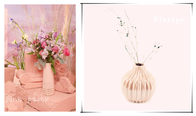 pink party vase