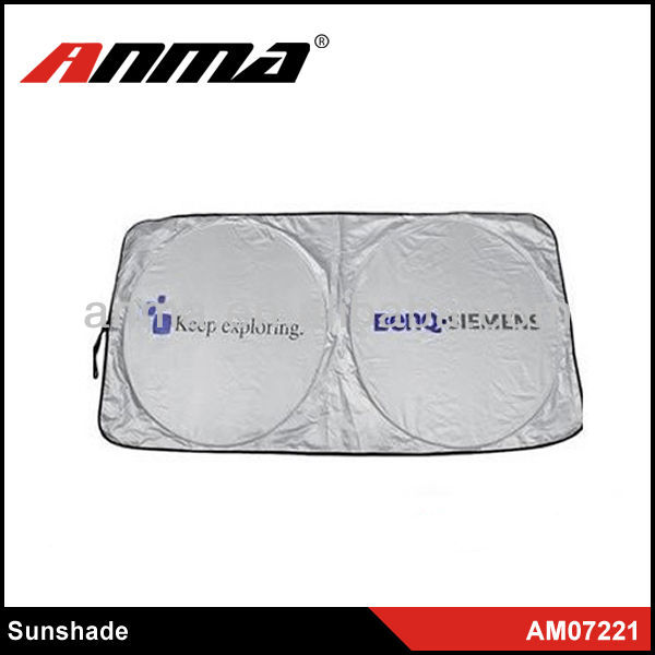 Front window Polyester material foldable car sunshade windshield cover