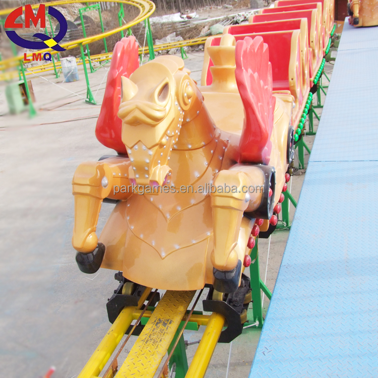 Amusement rides caterpillar track train cheap roller coaster for sale