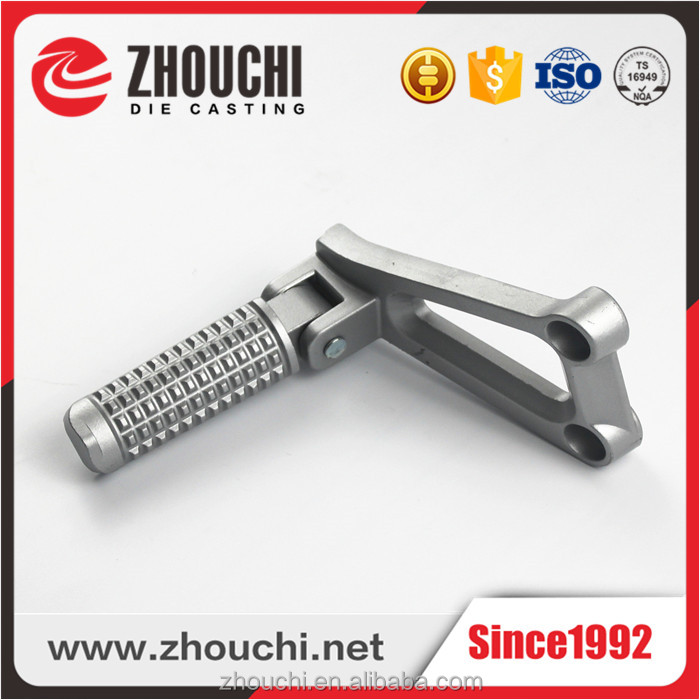 Customized Aluminum die casting Motorcycle Foot Pegs/Bracket