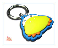 Promotion soft 3D silicone keychain, soft pvc tag key pendant, silicone wristband keychain with key ring