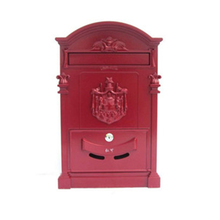 Red Color Customized Service Cast Aluminum Lock Mailbox