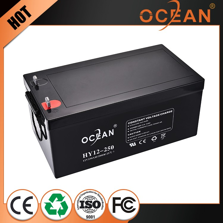 Unique professional 12V 250ah succinct sealed rechargeable battery