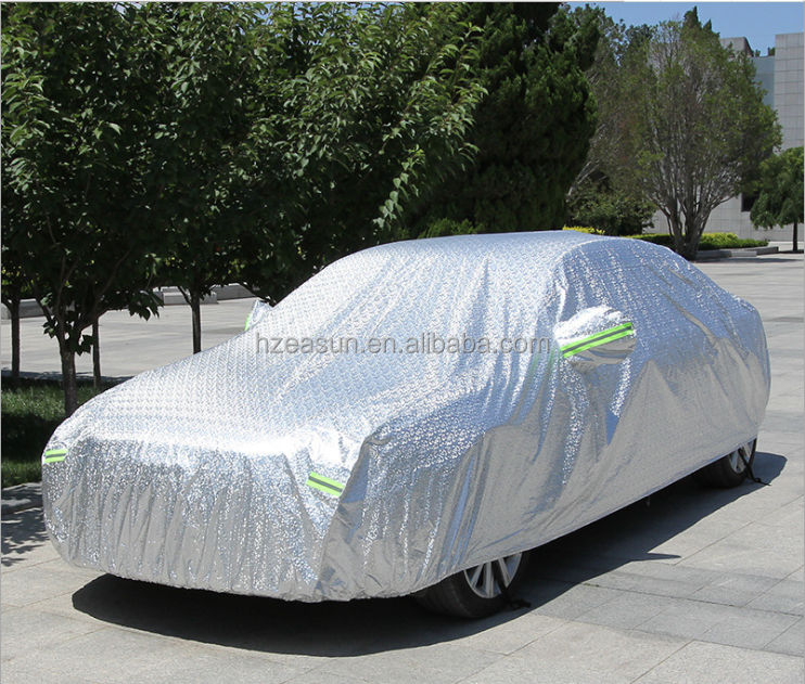 High quality waterproof auto car heat protection car cover (Alumium Fabric +PP Cotton Inside)
