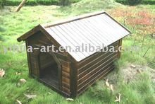 pet house with fir wood