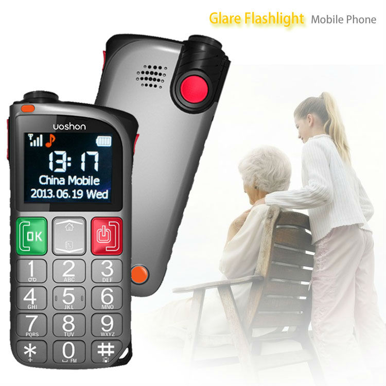 old people care products cellular large font phone with panic button security system