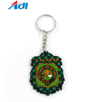 Wholesale promotional custom pvc silicone rubber keychains