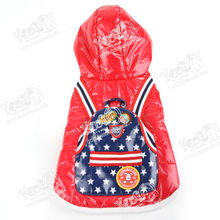USA Spaceman Stars-backpack Cotton Coat, Down Jacket for Pets, Local Manufacturer